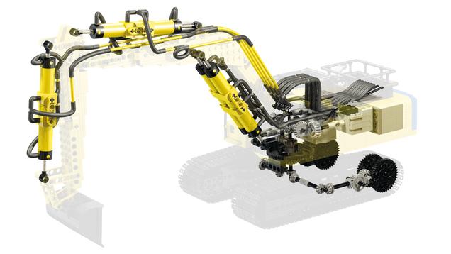 LEGO Hydraulic Backhoe - YouTube