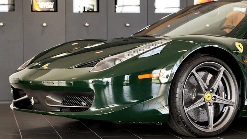 I Can't Stop Staring At This Green Ferrari 458