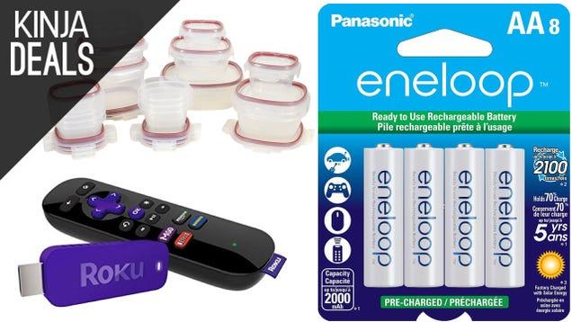 Saturday's Best Deals: Eneloop Batteries, Roku Streaming Stick, & More