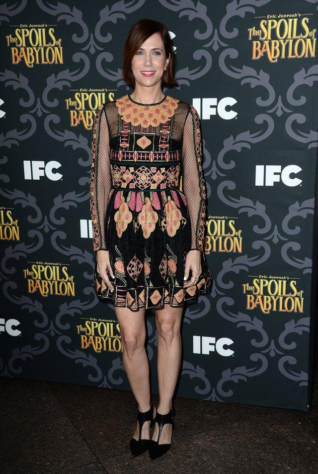 Kristen Wiig's Dress Is Sheer Chaos