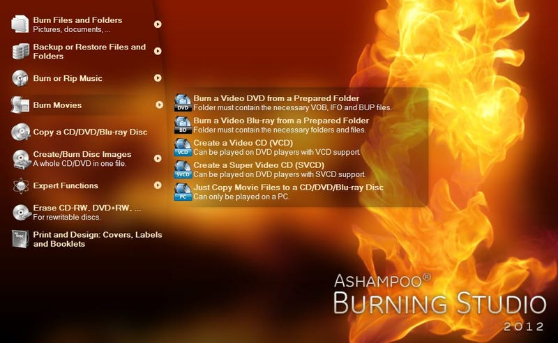 Get $50 Ashampoo Burning Studio 2012 Free for the Next Five Hours
