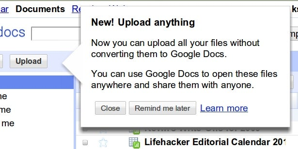 Google Docs Now Allowing Any Type of File Upload