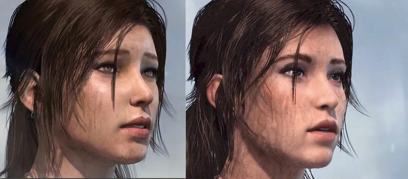 Lara Croft's face is sexier on Next-Generation Consoles