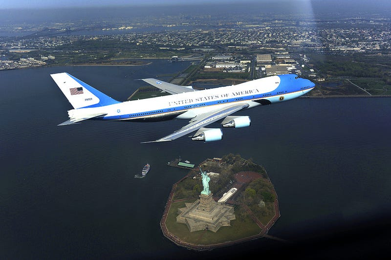 Air Force One Scaring New York from the Other Side