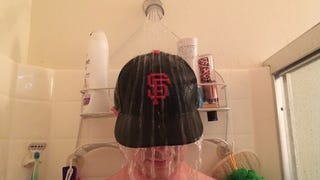 Break In a Baseball Cap by Wearing It in the Shower