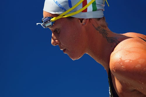 Swimmer Has Intense Focus, Intense Tattoo