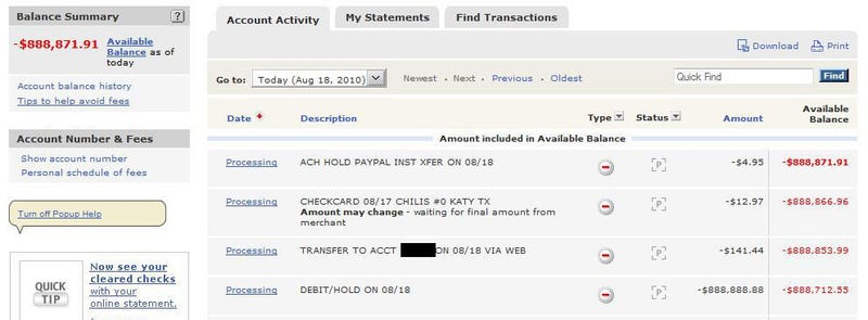 What It's Like To Suddenly See Your Bank Account at Negative $900,000 Thanks to PayPal