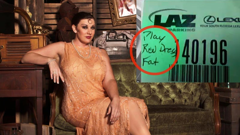 Valet Identifies Actress As 'Fat' On Parking Ticket