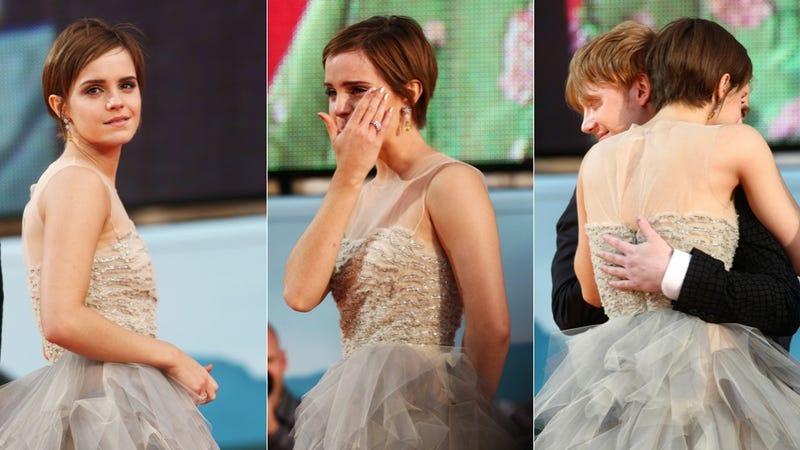 Emma Watson Breaks Down During Final Harry Potter Premiere