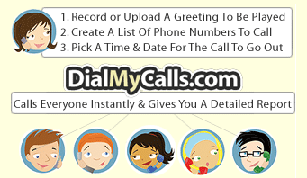 DialMyCalls Sends Voicemail to Multiple Recipients