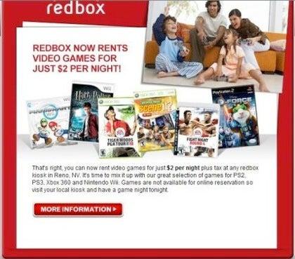Reno Redbox Kiosk Begins Spitting Out $2 Video Game Rentals