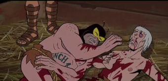 On Venture Bros, a Greek god calls for blood and Doc tries to sell Teddy Ruxpin PCP
