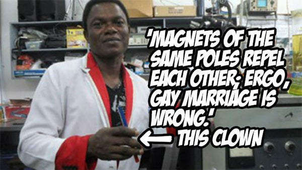 """This stupid grad student claims """"science"""" proves gay marriage is wrong"""