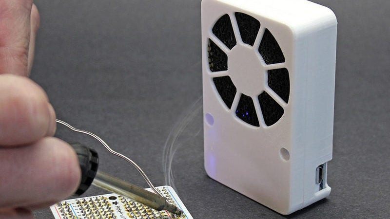 Build a Slick Looking DIY USB Rechargeable Solder Fume Extractor