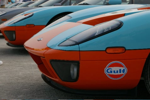 Gulf Oil Ford GT's At The Indianapolis Motor Speedway