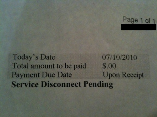 Comcast To Customer: Pay Us $0.00 Or We'll Cancel Your Service