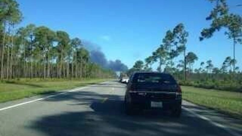 A Drone Fell From the Sky and Exploded Next to a Florida Highway