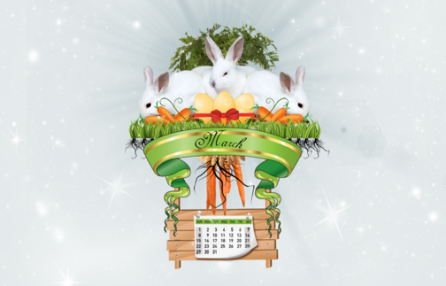Grab 40+ Beautiful March Calendar Wallpapers
