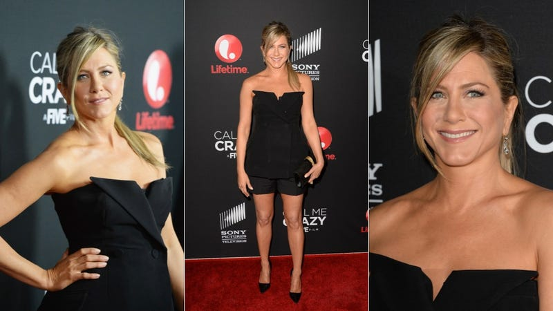 Check Out Jennifer Aniston's Swishy Pony and Formal Shorts