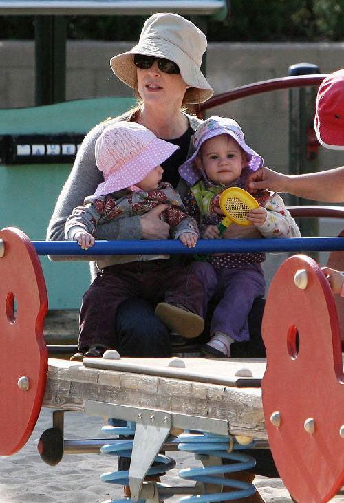 Marcia Cross, Kids Enjoy Spring Day