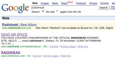 Misleading EMI Ad Touted New Radiohead Album, Directed Clickers to Own Store
