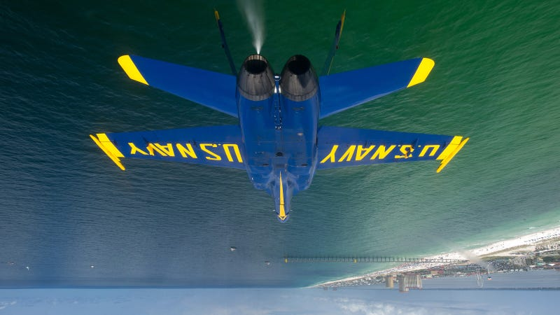 Inverted F-18 Hornet Photo Will Make Your Head Spin a Little