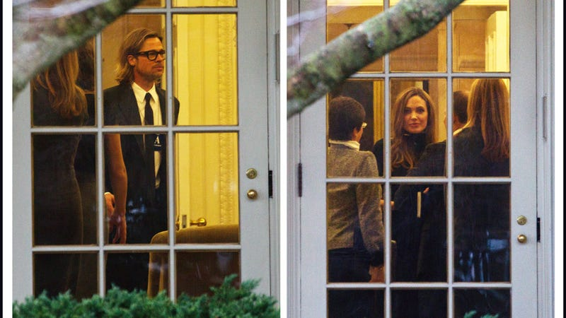 Brangelina Infiltrates Oval Office