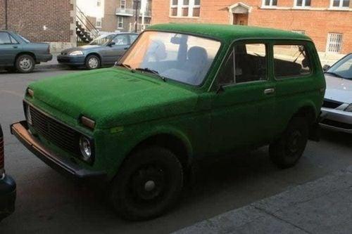 Carpet-Covered Lada: Photos
