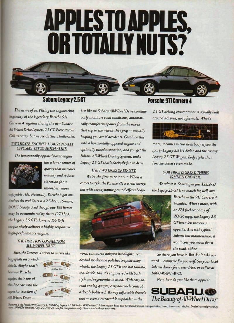 Subaru Legacy = Porsche 911