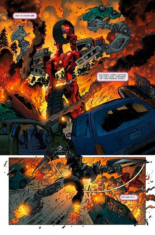 Transform Into Preview Of Fallen Comic Sequel