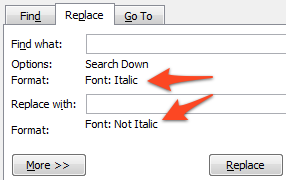 Find and Replace Formatting in Microsoft Word