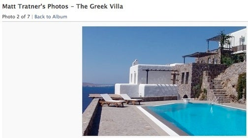 Apartment Trash-ee Back on His Feet Enough to Rent Greek Villa