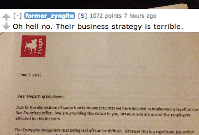 Fired Zynga Staff Hits Reddit to Talk Life Before the Massacre