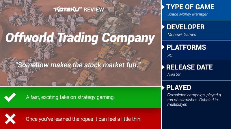 Offworld Trading Company: The Kotaku Review