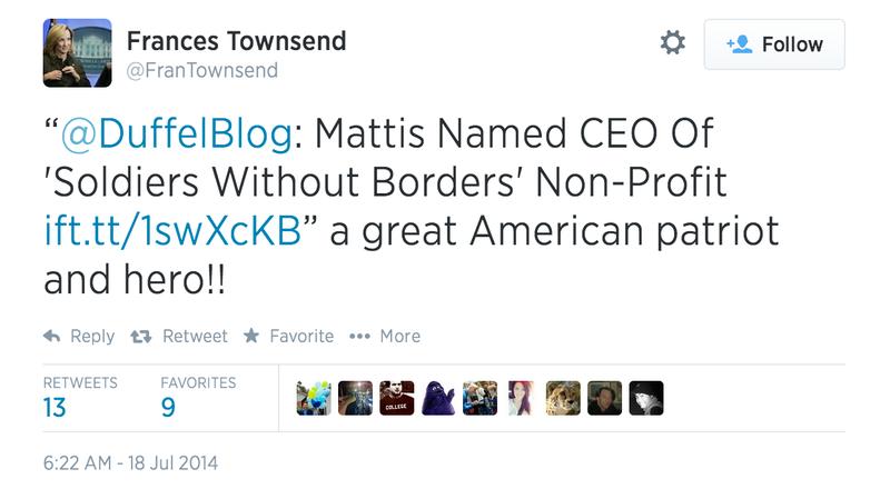 Bush-Era Homeland Security Adviser Falls for Parody Military Website