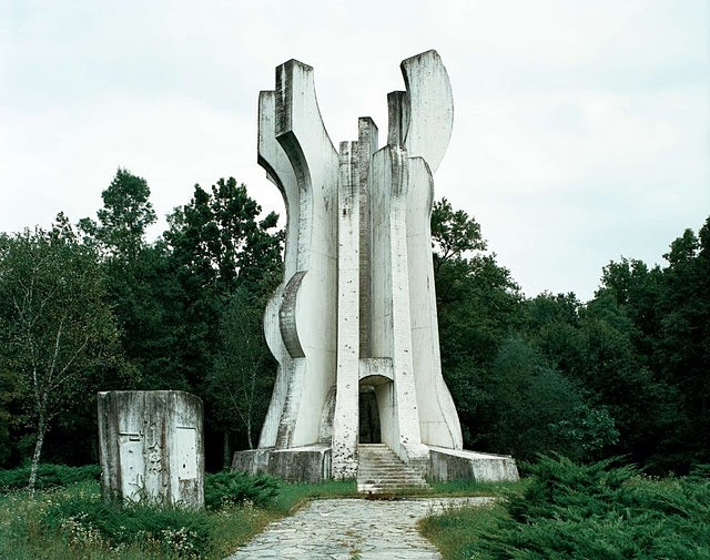 Old Yugoslavian monuments look like TIE Fighters and scifi fortresses