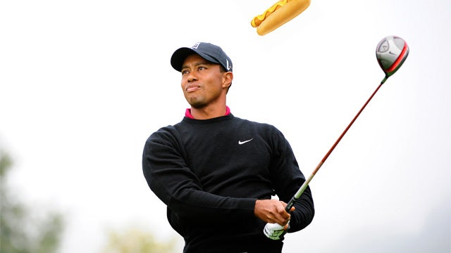 Tiger Woods Unharmed Following Hot Dog Attack