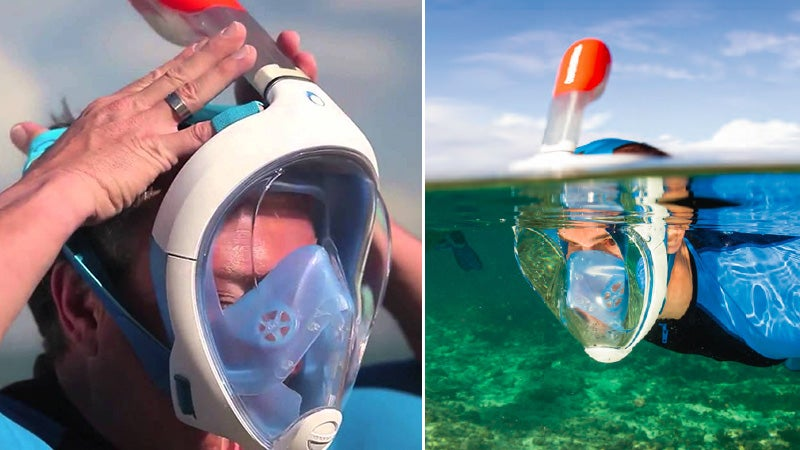 A Snorkel Mask That Lets You Breath Like You're Not Underwater