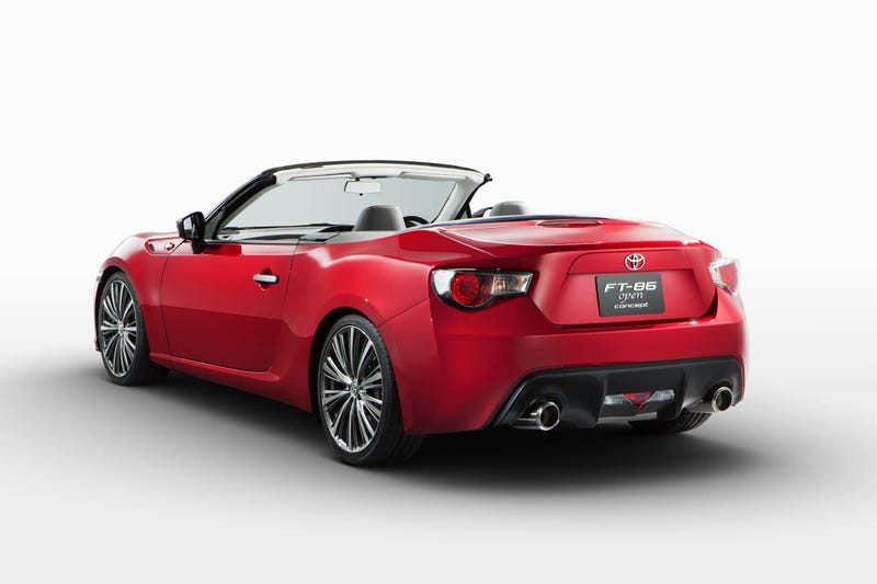 The Toyota FT-86 Open Concept Looks Damn Good In Red