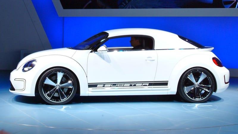 When A Beetle Loves A Porsche-uh At The Detroit Auto Show