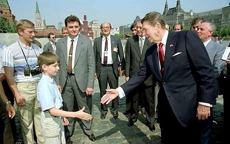 Is the Dork on the Left Vladimir Putin?