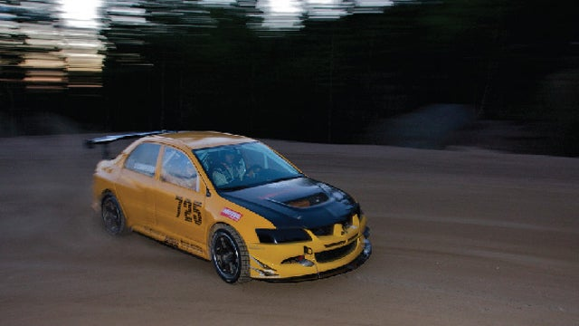Watch a Pikes Peak Unlimited Class Mitsubishi Evo come together via live stream
