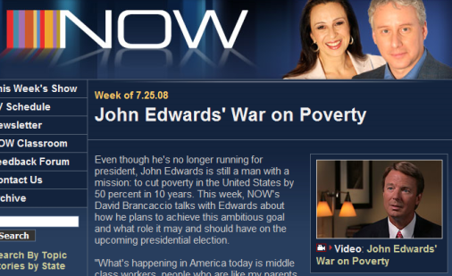 PBS Covers Scandalous John Edwards! (And His Anti-Poverty Campaign)
