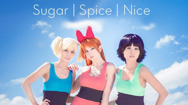 Here They Come, Just In Time, The (Cosplaying) Powerpuff Girls