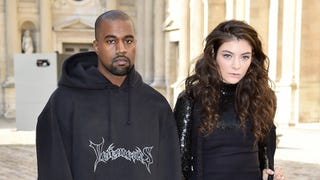 Goth Teens Lorde and Kanye West Are Thrilled to Be at the Dior Show