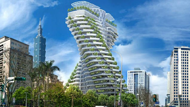 This Giant, Twisting Garden of a Tower Mimics Our Own DNA