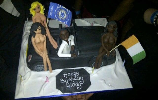 Didier Drogba's Boobsy Birthday Cake (NSFW)