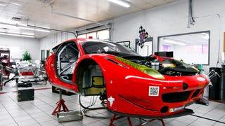 A Look Inside the Ferrari 458 Workshop of Risi Competizione
