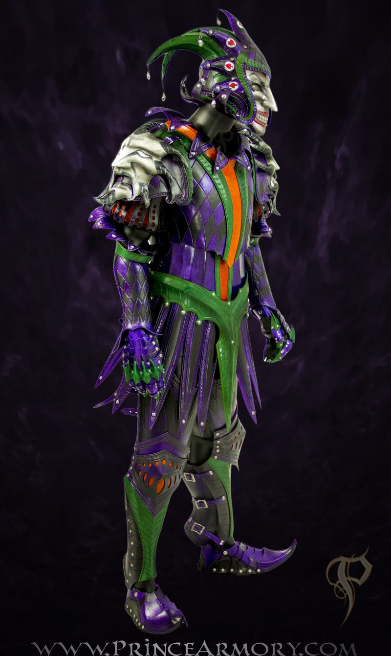 The Joker gets medieval with this functional suit of leather armor