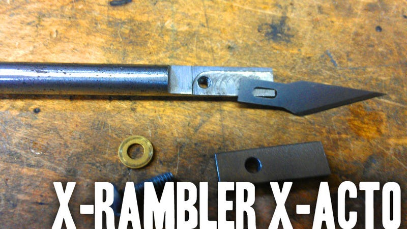 How To Make An X-Acto Knife Handle Out Of A Rambler Six Pushrod